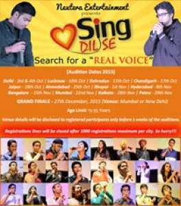 Sing Dil Se 2015 | Singing Auditions in India | Singing competitions in Chandigarh