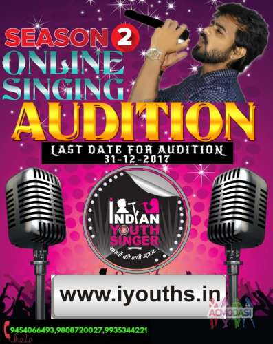 Indian Youth Singer Online Based Singing Competition Online Auditions Starts on 4-11-2017